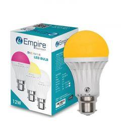 12W B22 Round Decorative Color LED Bulb Low Energy Consumption (Orange   Pack Of 1)
