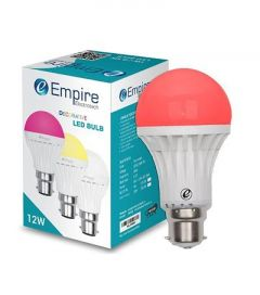12W B22 Round Decorative Color LED Bulb Low Energy Consumption (Red   Pack Of 1)