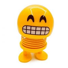 Yellow Smiley Face Smiley Spring Doll Toy Designed For All kinds (Pack Of 1)