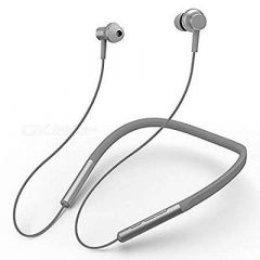 Elvue Sports Wireless Bluetooth Headset Neckband Earphone With Microphone Extra Bass For Running (Silver | Pack Of 1)