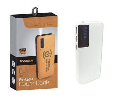 12200 mAh Power Bank with 3 LED Indicators Easy To Carry Anywhere (Pack Of 1)