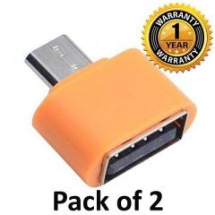 OTG Adapter For Flash Drive, Mouse, Keyboard & Some Digital Cameras (Pack Of 2)