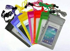 Three Layers Waterproof Sealed Transparent Mobile Bag Cover Protection For Android and iPhone