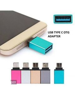 USB 3.0 C Type OTG Adepter For All C Type Mobile Phones (Pack Of 1)