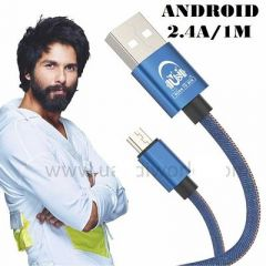 Fast charging v8 android Cable 1 Meter Length Suitable For Mobile, Computer (Pack Of 1)