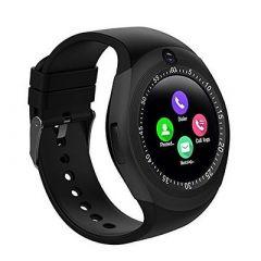 Y1S Black Digital Bluetooth Smartwatch | 2 MP Camera Sleep Moniter, Calendar (Pack of 1)