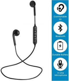 Vivo S6 Bluthooth Earphone Bluetooth Headset Excellent Sound Quality (Pack Of 1)