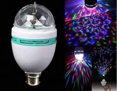 360 Degree LED Crystal Rotating Bulb Magic Disco LED Light For Party/Home/Diwali Decoration (Pack Of 1)
