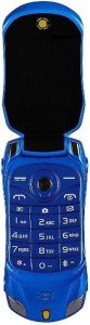Ringme R1 Car Design Keypad Flip Phone With Dual Sim With 0.08mp Camera Mp3 & Mp4 Player (Blue)