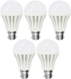 3W Led Bulb Plastic Body Suitable For Lamps, Torch Lights, Holder (Pack of 5)