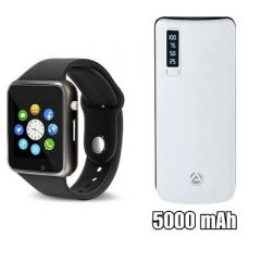Al Touchscreen Smartwatch With 5000mAh Power Bank Assorted Colour