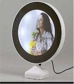 Personalized Customize Magic Mirror Cum Photo Frame LED Light For Home Decor (Pack OF 1)