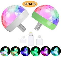 USB Disco Bulb Light Perfect Party Light  With Free OTG Cable For Party (Pack Of 2)