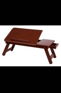 Trendy Wooden Laptop Table Ideally Designed For Laptop Notebook Table (Brown) (Pack Of 1)