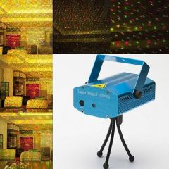 Multi Pattern Sound Activated Laser Light Disco Party Club, DJ Decoration Night Lamp (Blue)