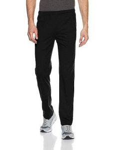 Solid Polyester Spandex Regular Track Pants Perfect For Mens (Black) (Pack Of 1)