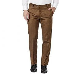 Stylish & Fashionable Liner Trousers For Men (Brown) (Pack Of 1)