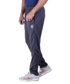 Mens Stylish Micro Polyester Blend Dirt Fit Trackpants Single Bone With Zip Pocket (Grey) (Pack Of 1)