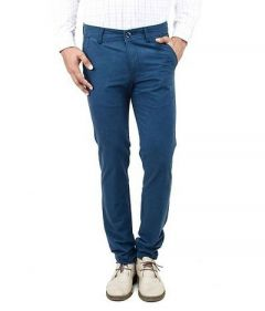 Stylish Solid Cotton Trendy Trouser Perfect For Mens (Blue) (Pack Of 1)
