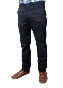 Trendy Solid Satin Fabric Mid Rise Regular Trouser Suitable For Mens (Black)