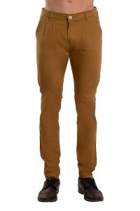 Mens Solid Relaxed & Slim Fit Casual Stretchable Trouser (Brown) (Pack Of 1)