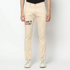 Trendy & Stylish Western Wear Casual Trousers For Mens (Cream) (Pack Of 1)