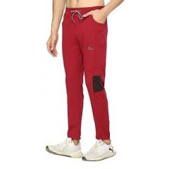 Fashionable Fleece Solid Regular Track Pant For Men (Maroon) (Pack Of 1)