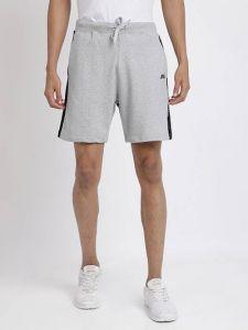 Stylish Solid Cotton Blend Regular Shorts For Men (Light Grey) (Pack Of 1)