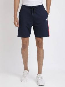 Mens Stylish Cotton Blend Regular Fit Shorts (Navy Blue) (Pack Of 1)