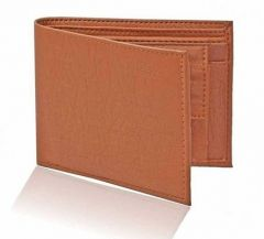 Stylish Short Length Pu Lether 2 Fold Wallets For Men (Tan) (Pack Of 1)