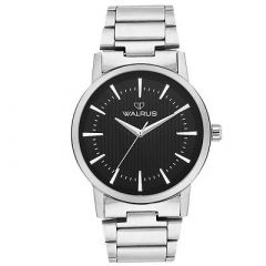 Stylish Men Metal Analog Watches Suitable For Party, Weddings, Formal & Casual Occasions (Black) (Pack Of 1)