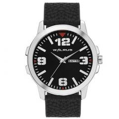 Stylish Men Black Synthetic Analog Watches Suitable For Party, Weddings, Formal & Casual Occasions (Black) (Pack Of 1)