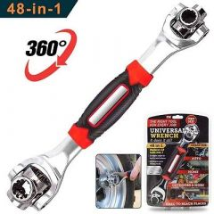 Shopper52 Universal Wrench 48 in 1 Socket Wrench Multifunction Wrench Tool with 360 Degree Rotating Head (48IN1TOOL)