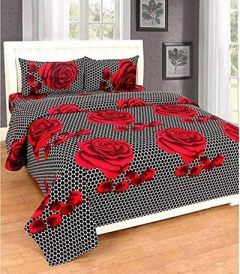 Designer Double Bedsheet With 2 Pillow Covers For Bedroom (Pack Of 1)