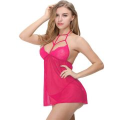 Aidmedcare Women Stylish Blushing Pink Babydoll Set | Pack of 1