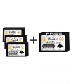 Khadi Charcol for Your Glowing Skin Anti Pollution Soap (491 g) | (Pack of 4)