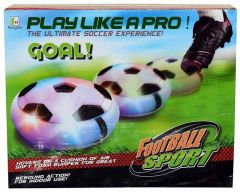 Air Powered Pneumatic Suspended Hover Soccer Ball|Disc With Foam Bumpers And Colorful Led Lights (Pack of 1)