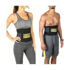 Men and Women Hot Shaper Sweat Slim Belt Free Size, Fat Burning Sauna Waist Trainer - Promotes Healthy Sweat, Weight Loss (Free Size)