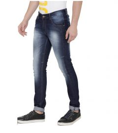 Men's Solid Relaxed Fit Denim Jeans