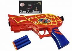 Super Hero Spider Man, Soft Bullets Gun With Foam, Random Color Will Be Ship (Pack Of 1)