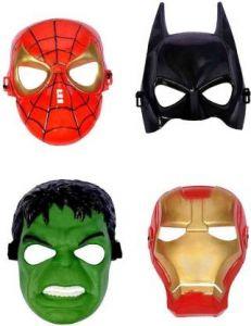 PTCMART Spiderman, Batman, Hulk & iron man Face mask For kids, Party Mask  (Multicolor, Pack of 4)