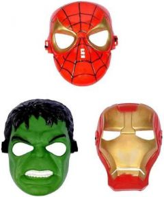 PTCMART Spiderman, Hulk And iron man Shape Face Mask For kids Party Mask  (Multicolor, Pack of 3)