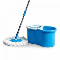 Elegant Spin Plastic Mop with 1 Extra Refill (Random Color will be Ship) (Pack of 1)