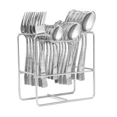PALOMINO High-Quality Stainless Steel 24 Spoon and 1 Cutlery Set (Pack of 25)