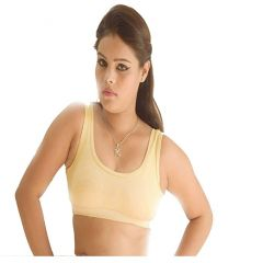 Yonoj Women Sport-Bra Stylish Flattering Fit Soft & Smooth Straps (Golden)