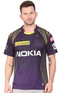 Regular Fit Polyester Printed Half Sleeve Sports T-Shirts For Men (Purple) (Pack of 1)