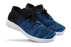 Stylish and Comfortable Solid Printed Casual Shoes For Men's (Blue)