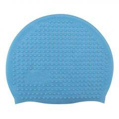 Sports Swim Caps for Girls Women Bubble Cap Silicone Swimming Cap