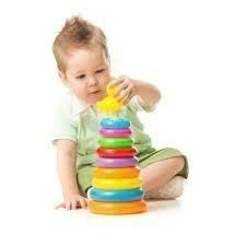 Duck Stacking Ring For Kids. Helps Kids Recognise Different Colour And Sizes (Jumbo 7 Rings, 1 Base, 1 Stand, 1 Duck )