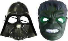 PTCMART StarWars And Hulk Shape Face Mask For Kids Party Mask(Multicolor, Pack of 2)